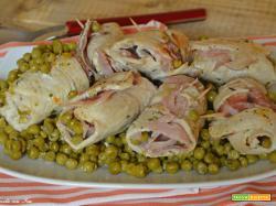 Involtini di pollo con piselli facili veloci e gustosissimi