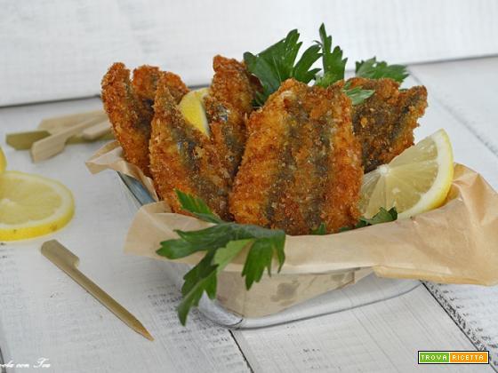 Acciughe fritte impanate super croccanti