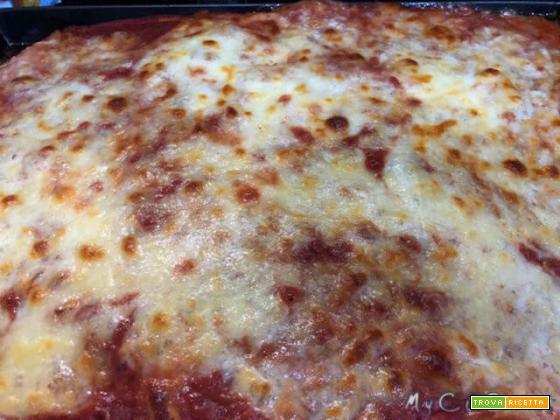Pizza in teglia con Companion Moulinex