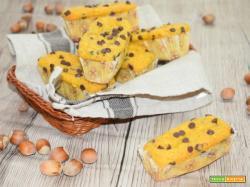Plumcake semi integrale alla ricotta,nocciole e cioccolato