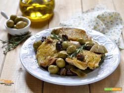 Sovracosce di pollo alle olive e carciofini