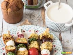 Spiedini di panettoni salati RICETTA FACILE