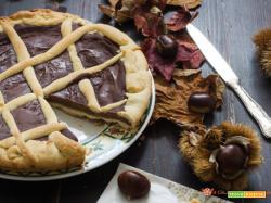 Crostata con crema di castagne e cioccolato fondente