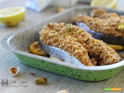 Tranci di salmone gratinati al pistacchio ed erbe aromatiche