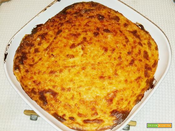 Sformato di patate con prosciutto cotto e formaggio