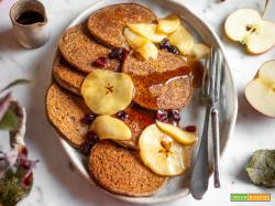 PANCAKES VEGAN di GRANO SARACENO e MELE senza glutine | GLUTEN-FREE VEGAN APPLE BUCKWHEAT PANCAKES