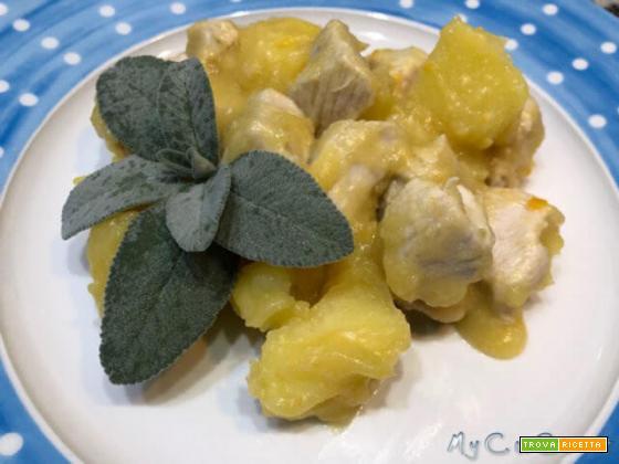 Spezzatino di tacchino con patate col CuCo Moulinex