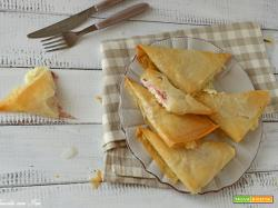 Pasta fillo prosciutto e bufala: fagottini perfetti in pochi minuti