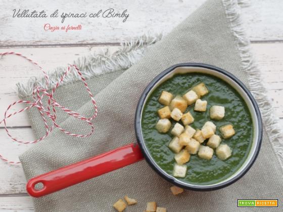 Vellutata di spinaci col Bimby