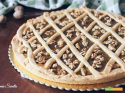 Crostata con marmellata di fichi e noci