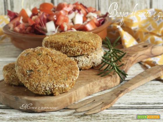 Burger di zucca e quinoa