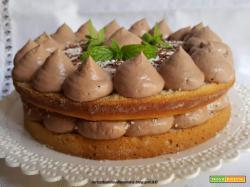 Torta con crema al cioccolato e cocco