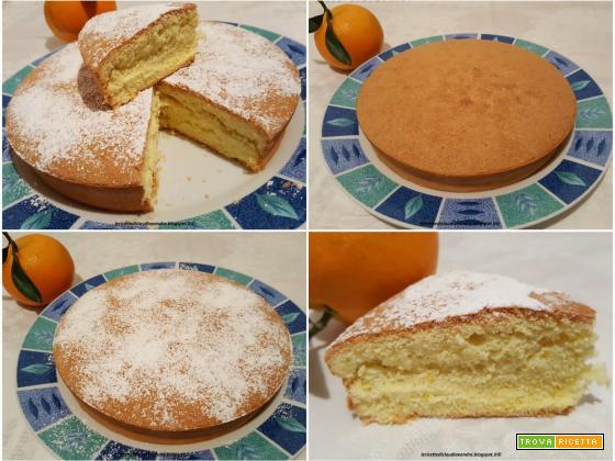 Torta margherita all'arancia senza glutine, senza grassi, senza lievito e senza latte