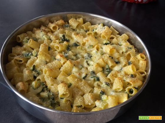 Gratin di pasta e zucchine
