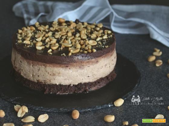 CheeseCake al burro di arachidi e Oreo Ricetta senza cottura