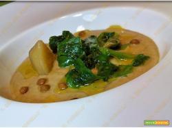 Zuppa cremosa di lenticchie e scarola