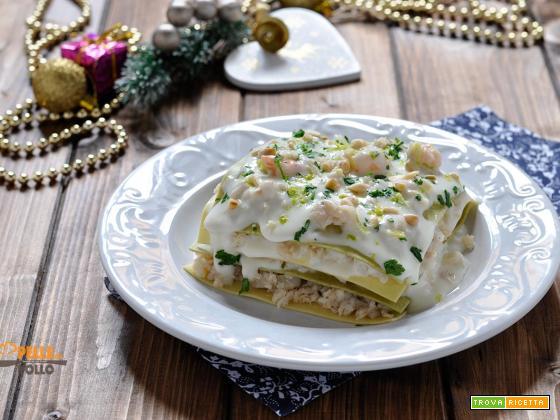 Lasagne di pesce con limone e pinoli