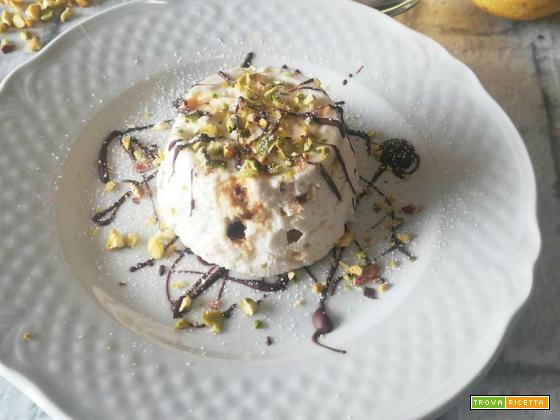 Semifreddo di ricotta pralinato ai pistacchi