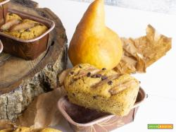 Mini Plumcake al Farro con Pere e Cioccolato