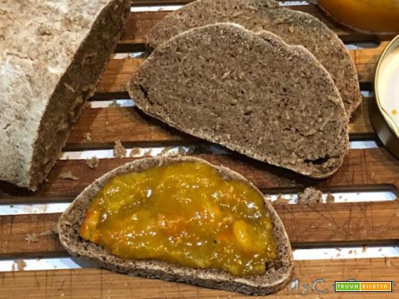 Pane di sola farina di segale integrale, impastato col Companion Moulinex