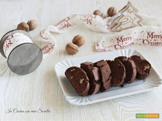Cantucci al cacao e noci