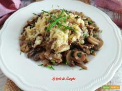 Risotto ai funghi prataioli e parmigiano