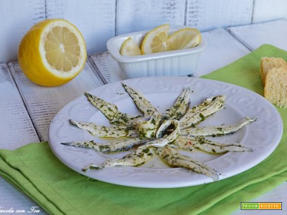 Acciughe marinate antipasto facile e veloce