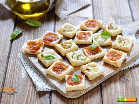 Mini pizzette di pasta sfoglia