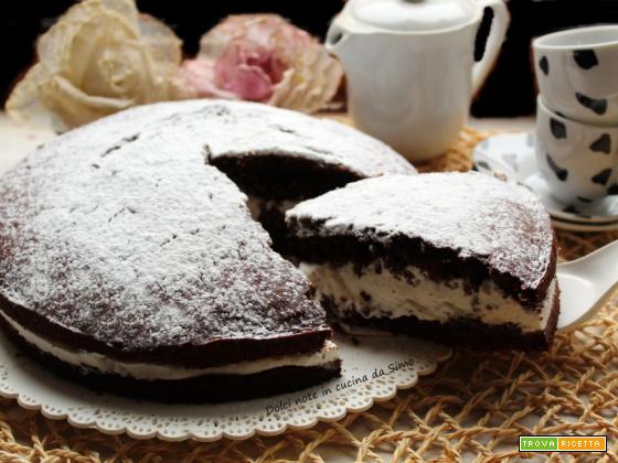 Torta Paradiso al cioccolato e panna