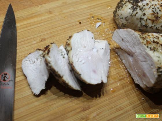 Petto di pollo al limone e erbe di provenza in friggitrice ad aria
