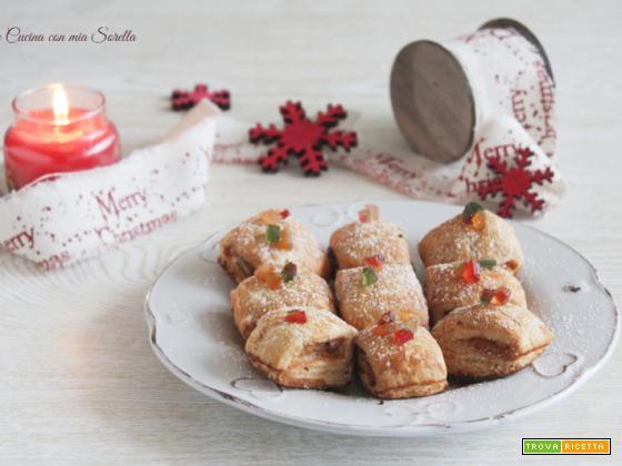 Sfogliette alla ricotta e canditi – biscotti di Natale