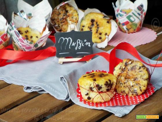 Muffin con gocce di cioccolato e caffè