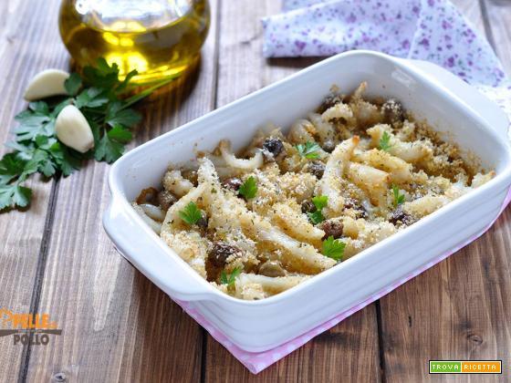 Seppie gratinate con olive e capperi