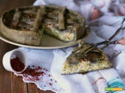 Torta salata mascarpone porri e pepe rosa