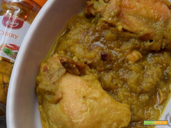 Pollo al curry senza panna