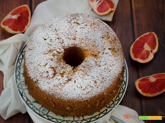 Chiffon cake al polpelmo rosa
