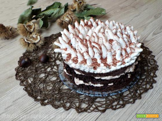 Torta Anemone con crema di castagne