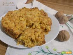 Torta salata di mais e noci