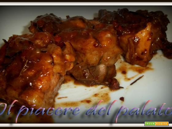 Agnello in salsa agrodolce
