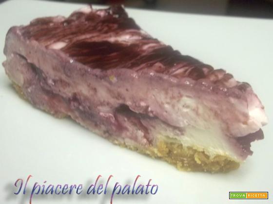 Cheesecake variegata al sambuco (versione fredda)