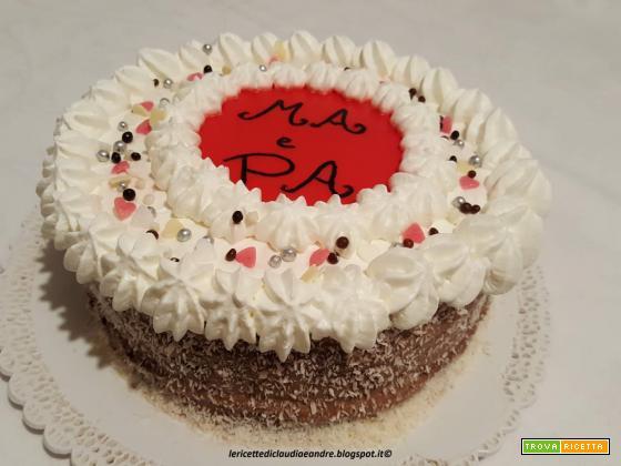 Torta golosa con crema al cioccolato e mascarpone