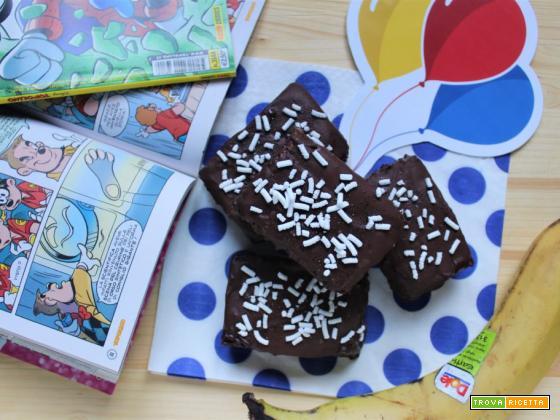 Merendine al cioccolato e banane sane e fatte in casa