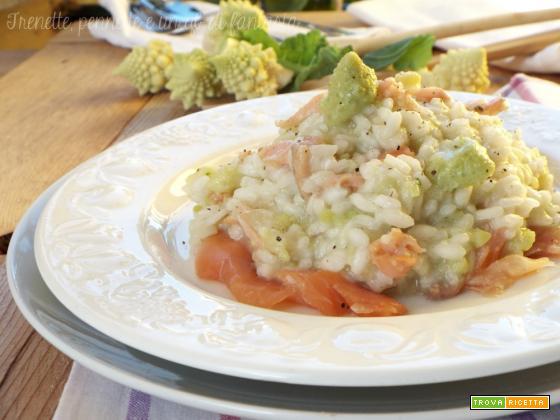 Risotto broccoli e salmone