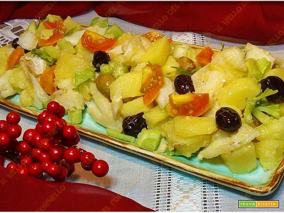 Insalata di baccalà patate ed olive