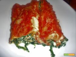 Ricetta – Cannelloni di lasagne con spinaci e ricotta