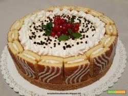 Torta cheesecake Buondolce con ribes e cioccolato