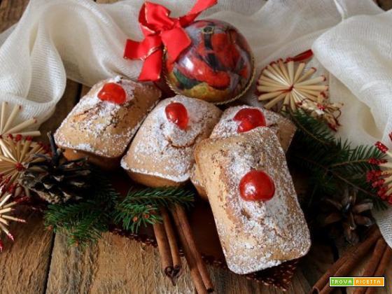 Mini cakes speziati alle ciliegie candite, il dolce per tutti!