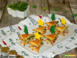 Alberelli con pancetta e scaglie di parmigiano