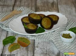 Muffin ai piselli e basilico