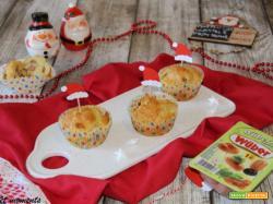 Muffin salati wurstel e provolone piccante